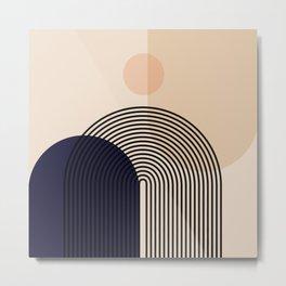 Abstraction_NEW_SUN_SHAPE_MOUNTAINS_LINE_POP_ART_M0202A Metal Print