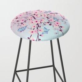 Cherry Blossom Landscape Bar Stool