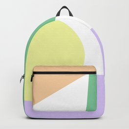 Simple Shapes Pastel Minimal Backpack