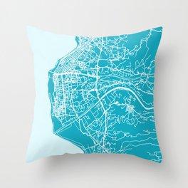 REGGIO CALABRIA Map - Italia | Aqua | More Colors, Review My Collections Throw Pillow