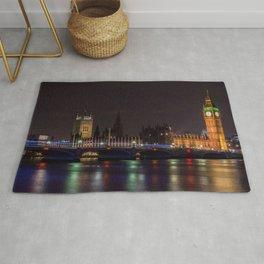 Big Ben. London Town ,cityscape,skyline ,England decor  Rug
