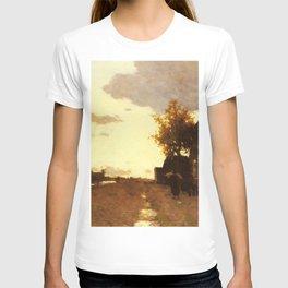 Along The Canal 1893 By Johan Hendrik Weissenbruch | Reproduction T-shirt