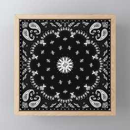 Bandana - Black   Framed Mini Art Print