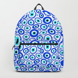 Evil Eye Mediterranean Lucky Symbol Backpack