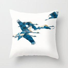 Beautiful Cranes in white background #decor #society6 #buyart Throw Pillow