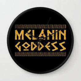 Melanin Goddess print| Black Pride product| Black Girl Power Wall Clock