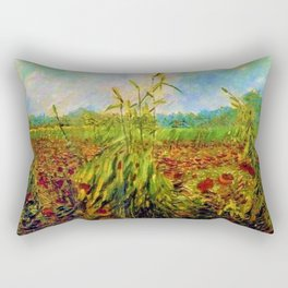 Red Poppies by Vincent van Gogh Rectangular Pillow