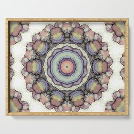 Abstract flowers mandala Serving Tray
