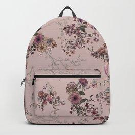 Japanese Boho Floral- Rose Blush Backpack