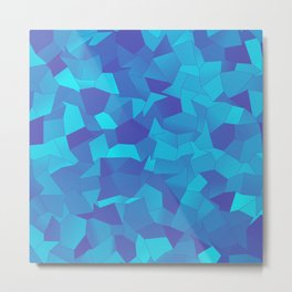 Geometric Shapes Fragments Pattern pb Metal Print
