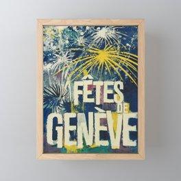 altes Plakat fetes de geneve 11 12 et 13 aout geneva Framed Mini Art Print