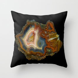 Condor Agate Sagenite Throw Pillow