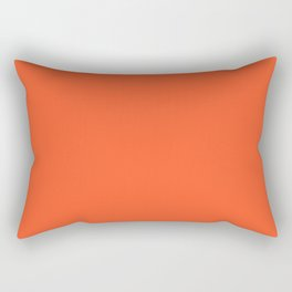 NOW EXUBERANT ORANGE solid color Rectangular Pillow