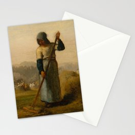 """Jean-François Millet """"Woman with a Rake"""" Stationery Cards"""