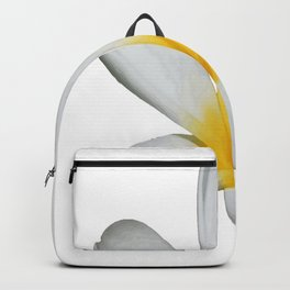 A Single Plumeria Flower Isolated Backpack
