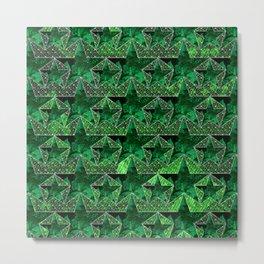 Stars V0 GREEN Metal Print