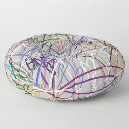 hearts-a-plenny grey Floor Pillow