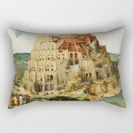 The Tower of Babel 1563 Rectangular Pillow