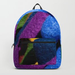 Colorful Woolen Medieval Hats Backpack