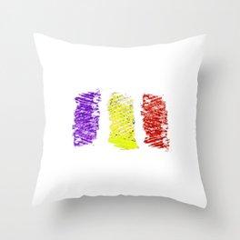 Flag of romania 5 -romania,romanian,balkan,bucharest,danube,romani,romana,bucuresti Throw Pillow
