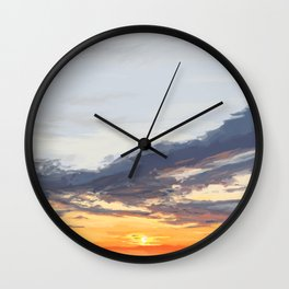 Sunset on the St George River 3 Wall Clock