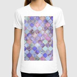 Royal Purple, Mauve & Indigo Decorative Moroccan Tile Pattern T-shirt