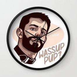 Wassup Pup? Wall Clock