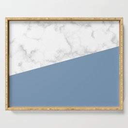 marble and ocean blue Serving Tray