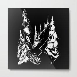 Back Alley :: Single Line Metal Print