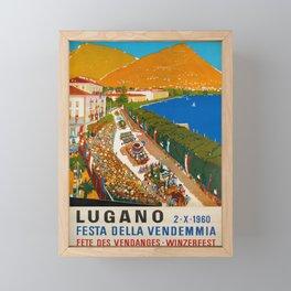 cartaz festa della vendemmia lugano Framed Mini Art Print