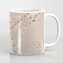 Cherry Blossom in Taupe Coffee Mug