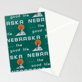 Nebraska. . .the good life! NE pride - Nebraska state sign Stationery Cards