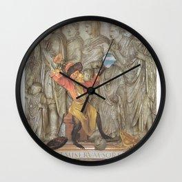 Knock It Off Wall Clock