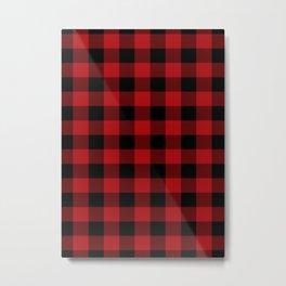 Red & Black Buffalo Plaid Metal Print