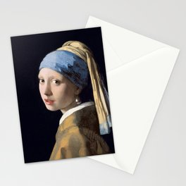 Girl with a Pearl Earring, Johannes Vermeer, 1665 Stationery Cards