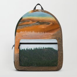 Grand Prismatic Spring Yellowstone National Park, Landscape Nature Photography Abstract Backpack