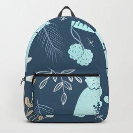 Winter time blue illustration  Backpack