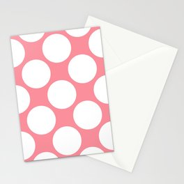 Polka Dots Pink Stationery Cards