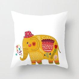 Elephant Giant Boar Big Forest Mammal Animal Gift  Throw Pillow
