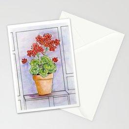 The Pot Geranium Stationery Cards