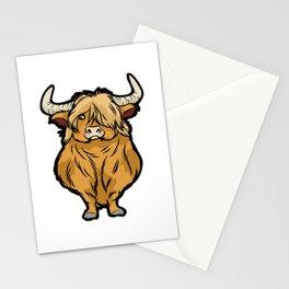 SCOTTISH HIGHLAND COW Scottland beef cattle bison Stationery Cards