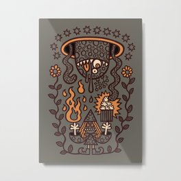 Grand Magus Summons Entity With Dark Popcorn Power Metal Print
