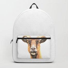 Goat Portrait Backpack