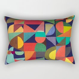 Color Blocks Rectangular Pillow