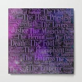 Tarot Major Arcana Word Art Metal Print