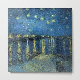 Fun Neck Gaiter Vincent Van Gogh Starry Night Over the Rhone Neck Gator Metal Print