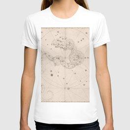 Johann Bayer - Uranometria / Measuring the Heavens (1661) - 03 Draco / Dragon T-shirt