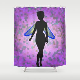 Stained Glass Faerie Shower Curtain