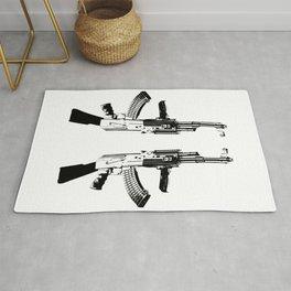 BLACK AK 47 Rug