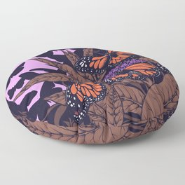 monarchs and milkweed Floor Pillow